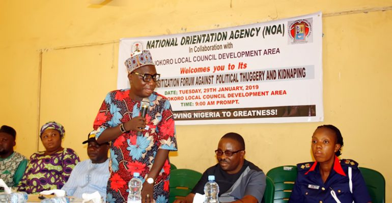 NOA appeals to Nigerians to eschew violence, embrace peaceful coexistence